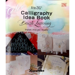 Zig - Zig Calligraphy Idea Book Brush Lettering Color Fude Pens