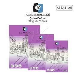 Alex Schoeller - Alex Schoeller Çizim Defteri 180g 25 Yaprak