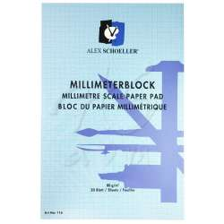Alex Schoeller - Alex Schoeller Milimetrik Blok 80 g 20 Yaprak A3 (1)