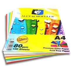 Alex Schoeller - Alex Schoeller Renkli Fotokopi Kağıdı A4 80g 100 Adet ALX-779