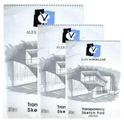 Alex Schoeller - Alex Schoeller Transparency Spiralli Sketch Pad Aydınger-Eskiz Blok 50-55g 30 Yaprak