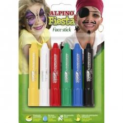 Alpino - Alpino Fiesta Face Stick Yüz Boyası 6 Renk