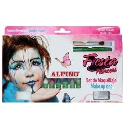 Alpino - Alpino Fiesta Princess Make up Set Yüz Boyama Seti 6lı