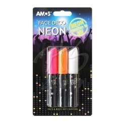 Amos - Amos Face Deco Neon Yüz Boyası 3lü