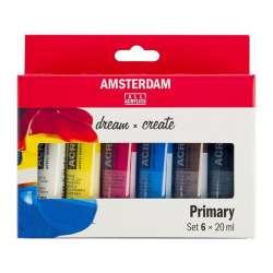 Amsterdam - Amsterdam Akrilik Boya Seti Ana Renkler 6x20ml