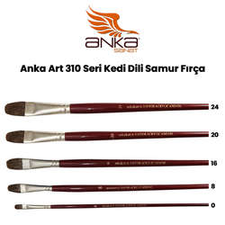 Anka Art - Anka Art 310 Seri Kedi Dili Samur Fırça