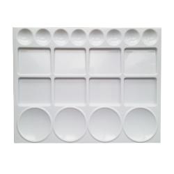 Anka Art - Anka Art Plastik Dikdörtgen Palet 20 Gözlü 32x25 cm