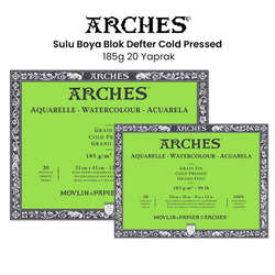 Arches - Arches Sulu Boya Blok Defter Cold Pressed 185g 20 Yaprak