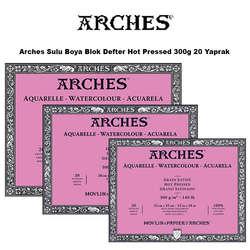 Arches - Arches Sulu Boya Blok Defter Hot Pressed 300g 20 Yaprak