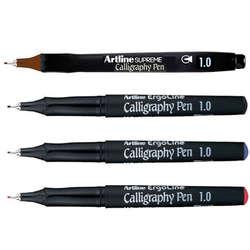 Artline - Artline Ergoline Kaligrafi Kalemi Karışık Renk 1.0mm 4lü