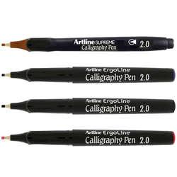 Artline - Artline Ergoline Kaligrafi Kalemi Karışık Renk 2.0mm 4lü