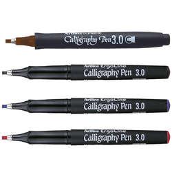Artline - Artline Ergoline Kaligrafi Kalemi Karışık Renk 3.0mm 4lü