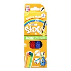 Artline - Artline Stix Brush Marker 4 Renk