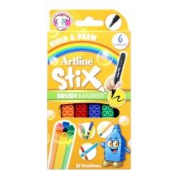 Artline - Artline Stix Brush Marker 6 Renk