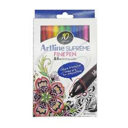 Artline - Artline Supreme Fine Pen 0.4mm 10lu Set