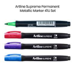 Artline - Artline Supreme Permanent Metallic Marker 4lü