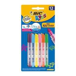 Bic - Bic Mini Kid Couleur Ultra Yıkanabilir Keçeli Kalem 12li