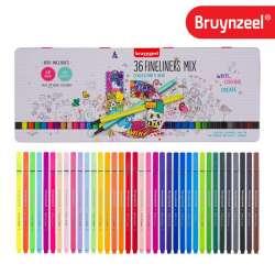 Bruynzeel - Bruynzeel Fineler İnce Uçlu Keçeli Kalem 36lı Set 0.4mm 60241036