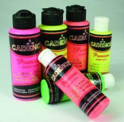 Cadence - Cadence Premium Akrilik Boya 120ml Fosforlu