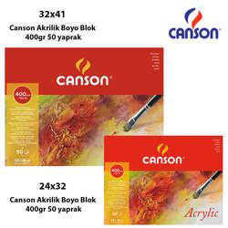 Canson - Canson Akrilik Boya Blok 400gr 50 yaprak