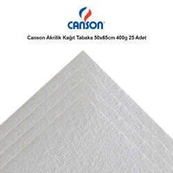 Canson - Canson Akrilik Kağıt Tabaka 50x65cm 400g 25 Adet