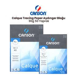 Canson - Canson Calque Tracing Paper Aydınger Bloğu 90g 50 Yaprak