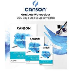 Canson - Canson Graduate Watercolour Sulu Boya Blok 250g 20 Yaprak