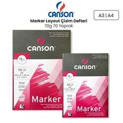 Canson - Canson Marker Layout Çizim Defteri 70g 70 Yaprak