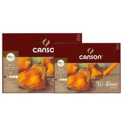 Canson - Canson Mi-Teintes Pastel Defteri Kahve Tonlar 30 Yaprak 60g