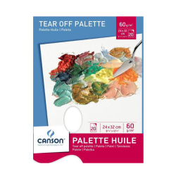 Canson - Canson Tear of Palette Kullan At Palet 24x32 cm 60 g 20 Yaprak