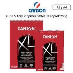 Canson - Canson XL Oil & Acrylic Spiralli Defter 30 Yaprak 290g