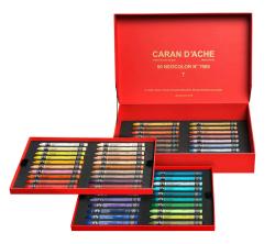 Caran d'Ache - Caran dAche Neocolor 60lı Aquarel Pastel Boya