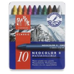 Caran d'Ache - Caran dAche Neocolor II 10lu Aquarel Pastel Boya