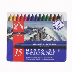 Caran d'Ache - Caran dAche Neocolor II Aquarel Pastel Boya 15li (1)