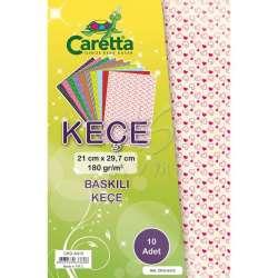 Caretta - Caretta Baskılı Keçe 10 Adet A4 180 g CKD-A410