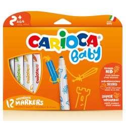 Carioca - Carioca Süper Baby Yıkanabilir Keçeli Boya Kalemi 12li 42814