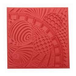 Cernit - Cernit Silikon Desen Kalıbı 9x9cm Space 95004