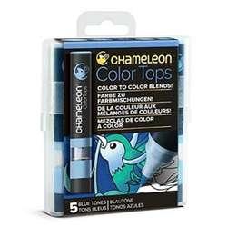 Chameleon - Chameleon Color Tops Marker Kalem 5li Set Blue Tones