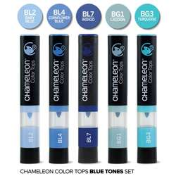 Chameleon - Chameleon Color Tops Marker Kalem 5li Set Blue Tones (1)