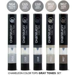 Chameleon - Chameleon Color Tops Marker Kalem 5li Set Gray Tones (1)