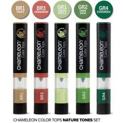 Chameleon - Chameleon Color Tops Marker Kalem 5li Set Nature Tones (1)