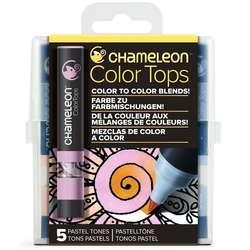 Chameleon - Chameleon Color Tops Marker Kalem 5li Set Pastel Tones