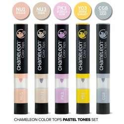Chameleon - Chameleon Color Tops Marker Kalem 5li Set Pastel Tones (1)