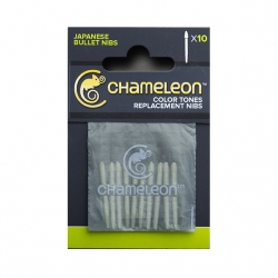 Chameleon - Chameleon Replacement Nibs 10lu Paket Bullet Nibs