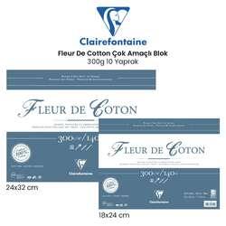 Clairefontaine - Clairefontaine Fleur De Cotton Çok Amaçlı Blok 300g 10 Yaprak