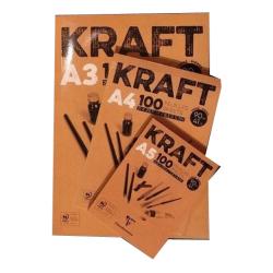 Clairefontaine - Clairefontaine Kraft Çizim Blok 90g 100 Yaprak
