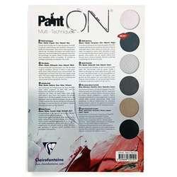 Clairefontaine - Clairefontaine Paint On Multi-Techniques 6 Renk 24 Yaprak 250g (1)