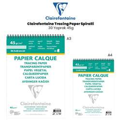Clairefontaine - Clairefontaine Tracing Paper Spiralli 30 Yaprak 45g