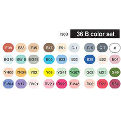 Copic - Copic Ciao Marker 36lı Set B (1)