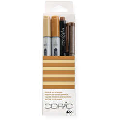 Copic - Copic Doodle Pack 4lü Set Brown